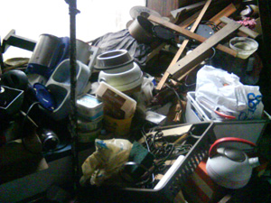 Cluttered house clearance in Mytholmroyd
