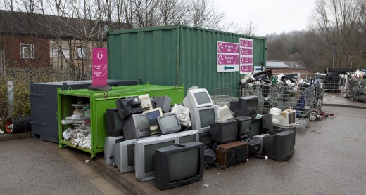 House clearance in Otley recycling centre